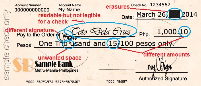 Guide to write a check