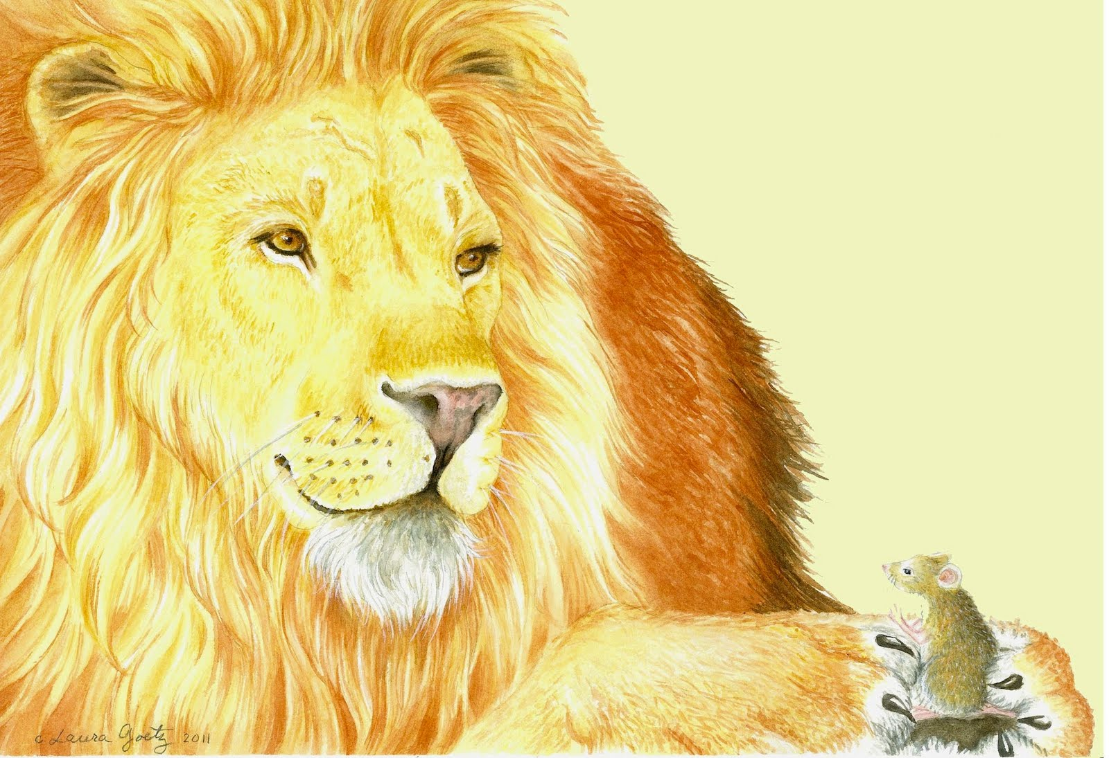 Lion And The Mouse Fable
