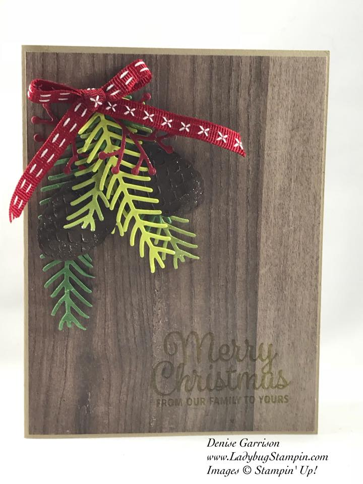 the pretty pines thinlet dies is one of my favorite in the current stampin up annual catalog i have made some of my christmas cards from this set the - Current Christmas Cards