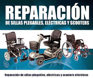 reparación sillas de ruedas plegables, eléctricas y scooters