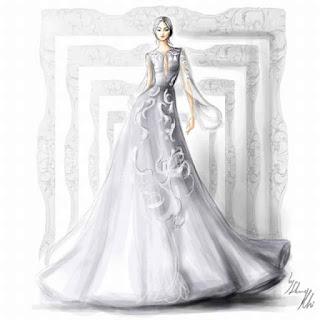 váy cưới màu trắng tinh khôi