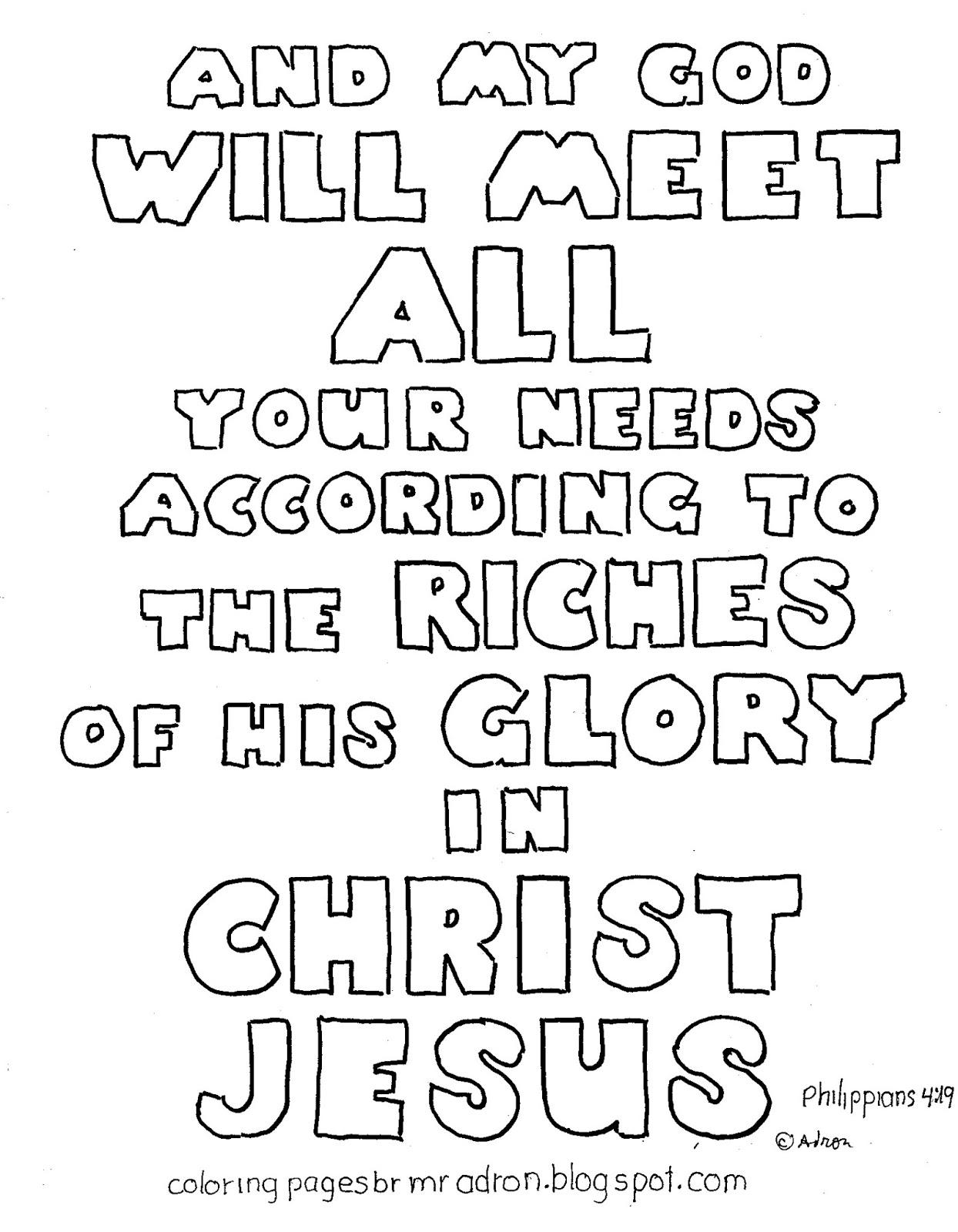 printable coloring page philippians 419 - Philippians 4 6 Coloring Page