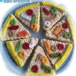 PATRON GRATIS PIZZA AMIGURUMI
