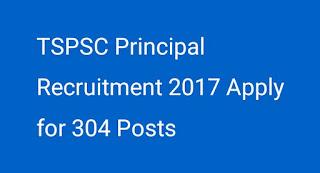 TSPSC Principal Recruitment 2017 Apply for 304 Posts