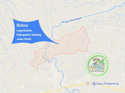 PETA : Desa Bobos, Kecamatan Legonkulon
