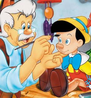 Dibujo de Pinocho y Gepetto a colores