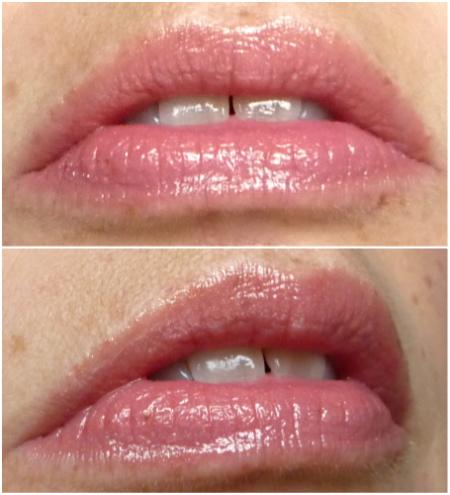 Paul & Joe Glossy Lip Color in 01 Savoir-Faire: lip swatches