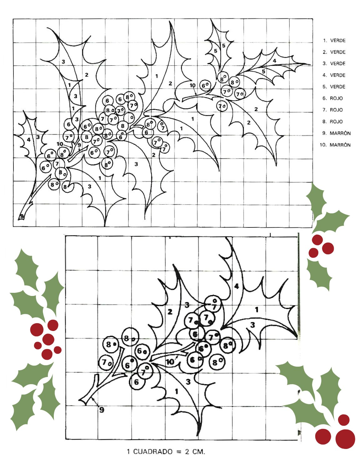 Mantel Bordado Para Navidad Que Atrae Suerte Y Fortuna - Manteles-para-bordar