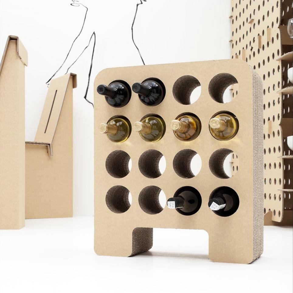 Autocostruzione come arredare casa con una linea di - Mobili di cartone design ...