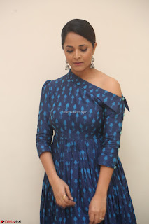 Anchor Anasuya in a Blue Gown at Jai Lava Kusa Trailer Launch ~  Exclusive Celebrities Galleries 011.JPG