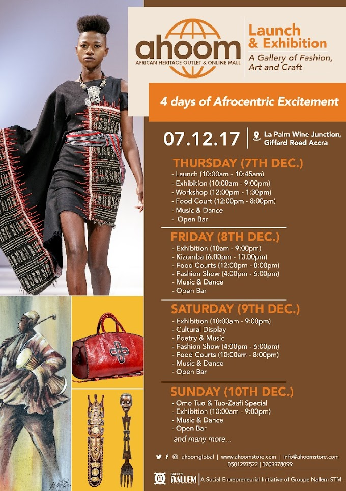 """""""Think Africa, Shop AHOOM"""" – African Heritage Outlet and Online Mall launches in Accra"""