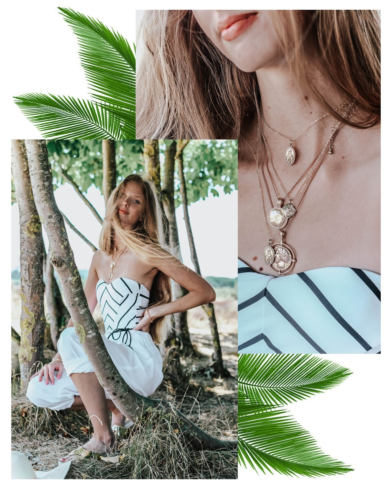 Summer Fashion Blog Beach Palms Collage