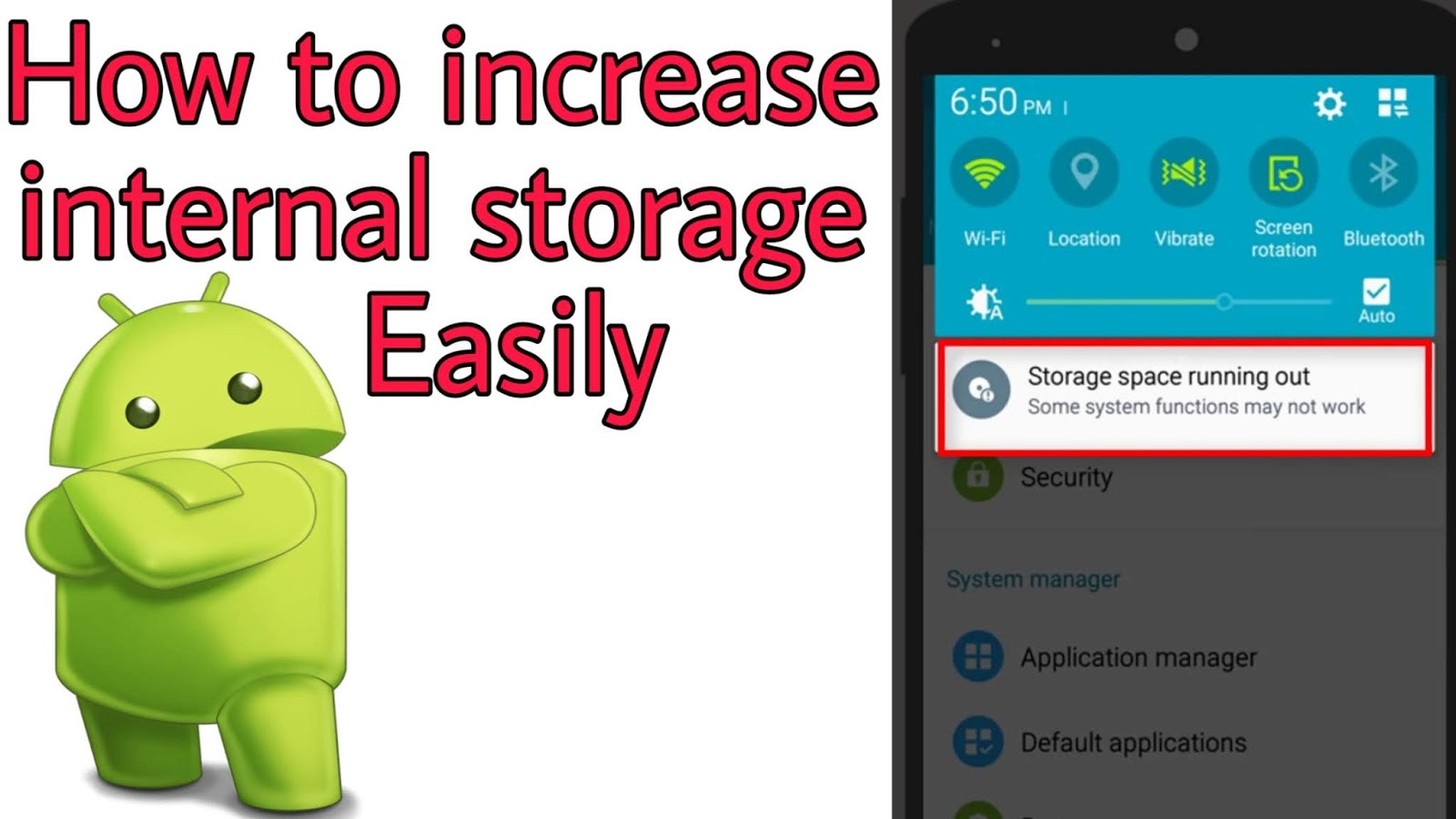 How to increase internal storage on android-2019