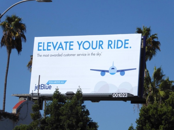 Jet Blue Elevate your ride billboard
