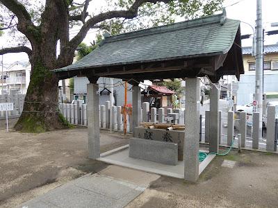 【門真市稗島】堤根神社(つつみねじんじゃ) 手水舎