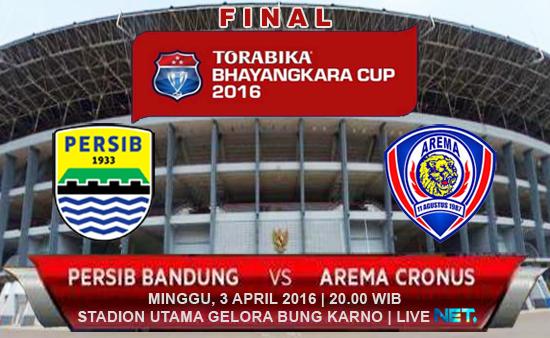 Persib vs Arema Cronus Final Piala Bhayangkara 2016