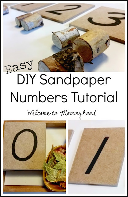 DIY Sandpaper number tutorial by Welcome to Mommyhood #Montessori, #preschoolathome, #preschool