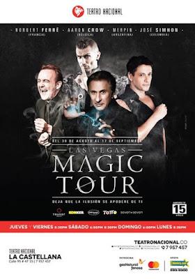Poster LAS VEGAS MAGIC TOUR EN BOGOTA 2017