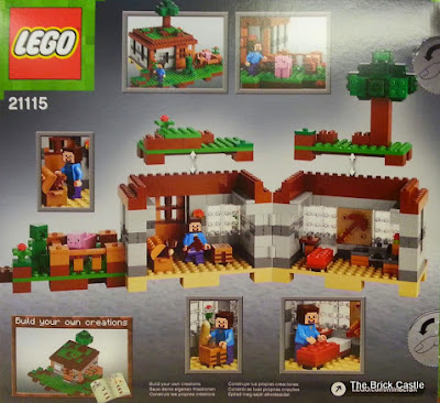 LEGO Minecraft Giveaway - Set 21115 - The First Night box rear