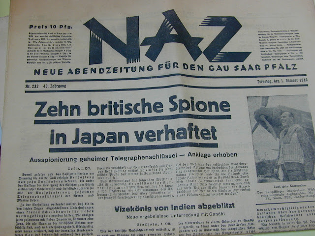 1 October 1940 worldwartwo.filminspector.com Naz German propaganda newspaper