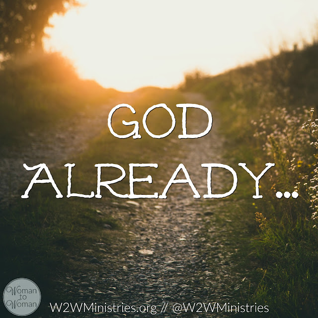 In advance...before the Israelites arrived...before we arrive...God is ready.  He has set His plan in motion.  All we have to do is be obedient and follow our Guide! #thursdaythoughts