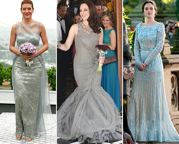 Silver hued wedding dresses on my favorite tv shows ideal for a