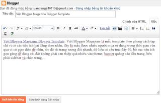 Cách thêm tùy chọn Tạo một Liên kết trong widget Blog1 version 2