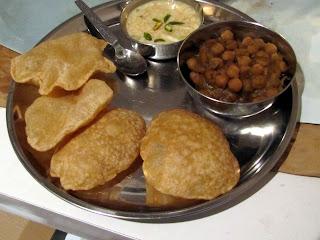 Chole, puri and kheer