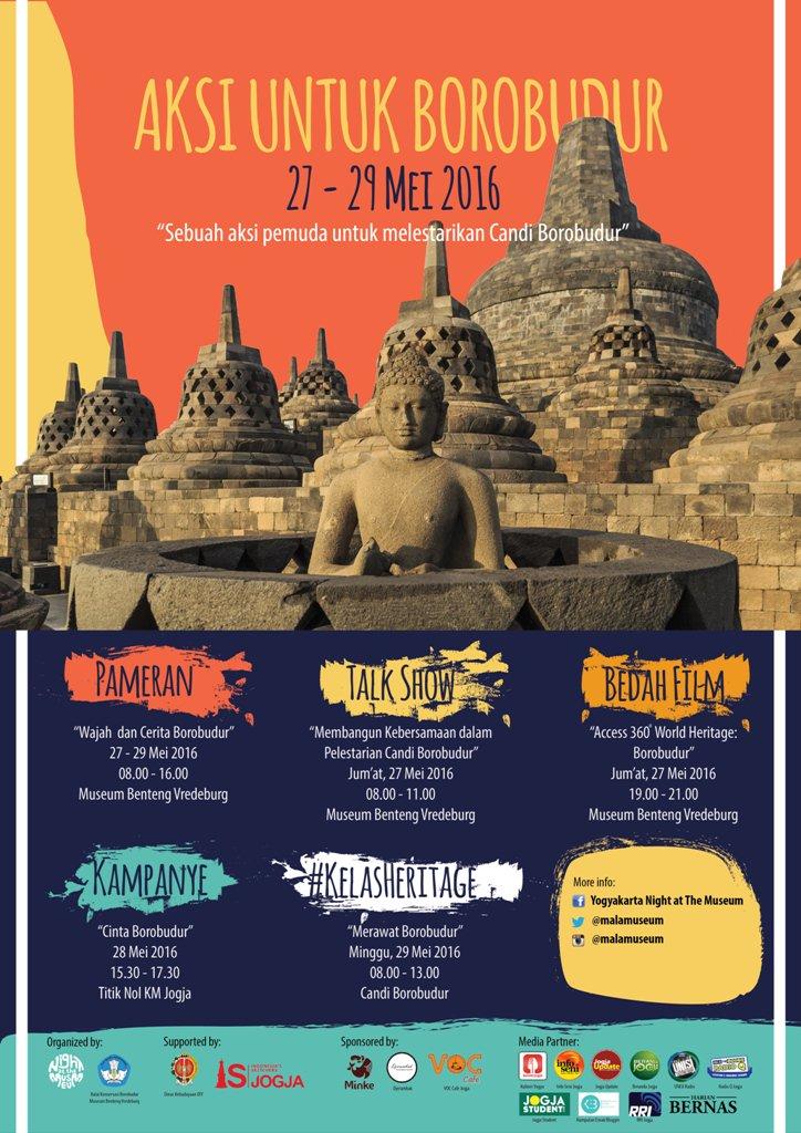 Event di Yogyakarta Aksi Untuk Borobudur pada Mei 2016