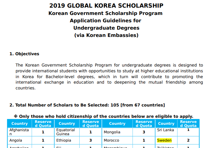 2019 Korean Government Scholarship Program (KGSP) | EducationHai