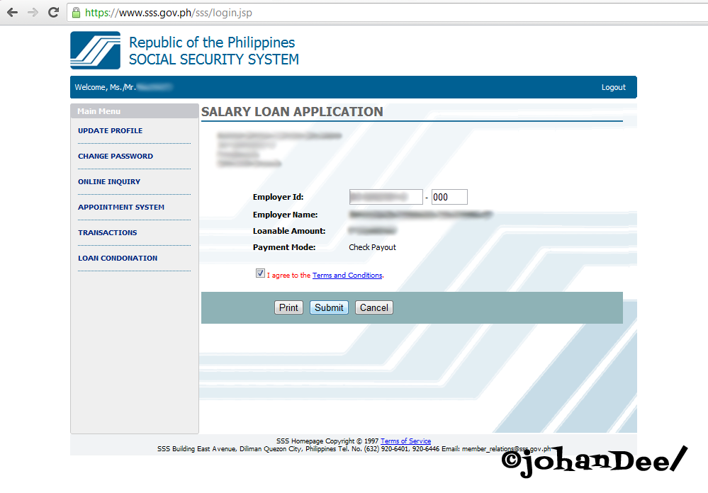 Filing Your SSS Online Salary Loan Application :)) | ©johanDee/
