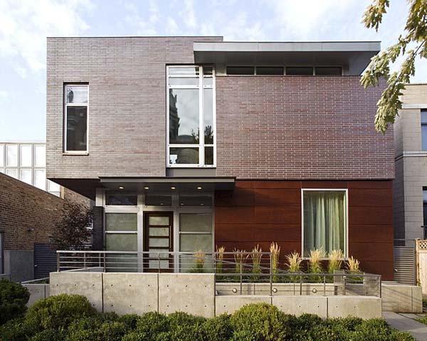 Casa detalles casa fachada lineal house facade for Casas modernas 8x20