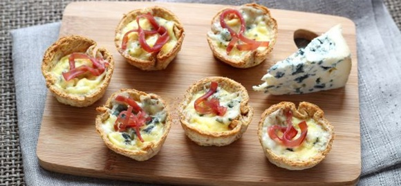 Mini Tartaletas De Queso Azul