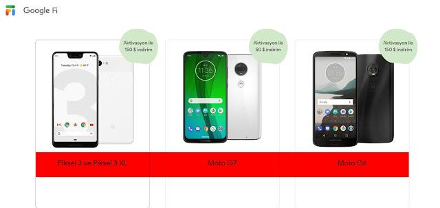 Moto G7, güncel olarak Google Fi üzerinden ön siparişe açık durumda.