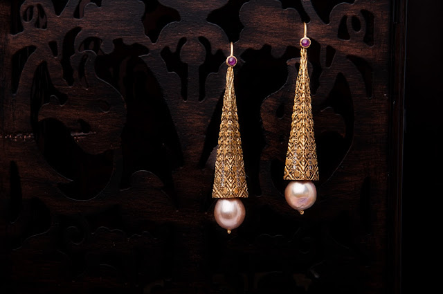 Nirvana Pearl and Diamond Earrings