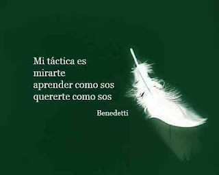 """""""Mi táctica es mirarte aprender como sos quererte como sos"""" Mario Benedetti - Táctica y estrategia"""