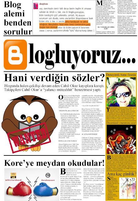 Blogluyoruz, blog gazetesi, bloglarda ne var?,
