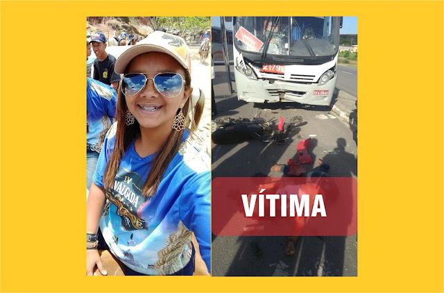 Garota de 17 anos morre após colidir com ônibus em Palmares