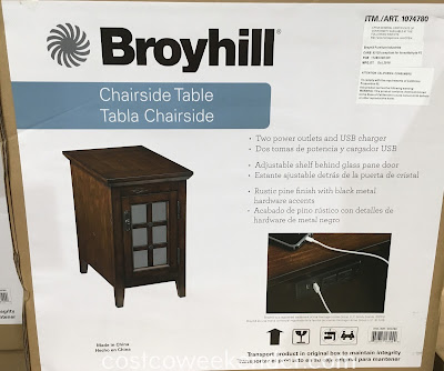 Costco 1074780 - Broyhill Chairside Table: great as an end table, side table, or night stand
