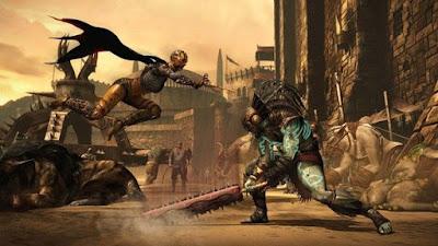 صورة  لتجربة العبة Mortal Kombat X في جهاز الحاسوب