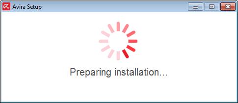 preparing installation avira free antivirus