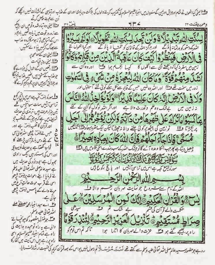 surah yaseen anwaar ul quran tv program allama kokab noorani okarvi