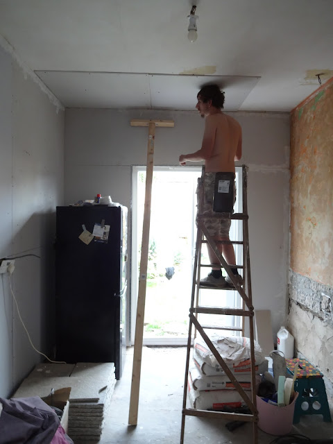 over boarding a ceiling