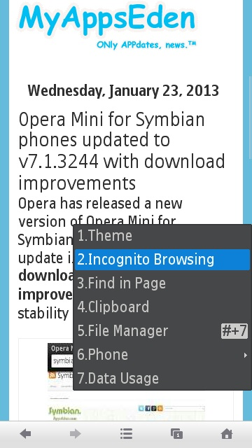UC Browser for Java/S40 phones updated to v8 9 with Incognito