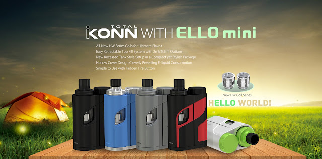 Eleaf new Starter Kit iKonn Total with ELLO Mini Tank launched