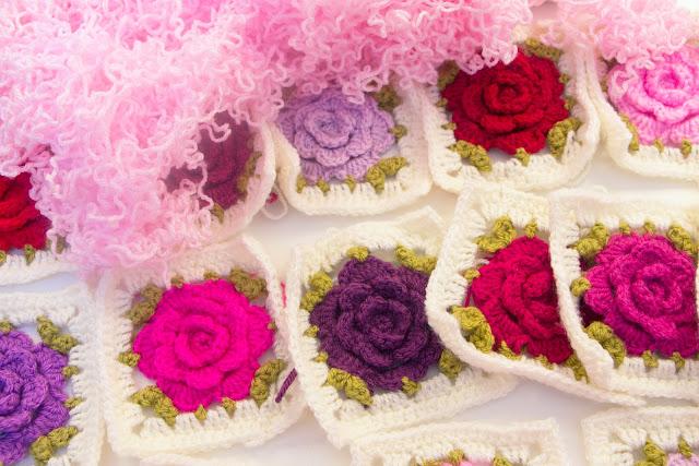 Crochet Roses Blanket Yummery Scrummery