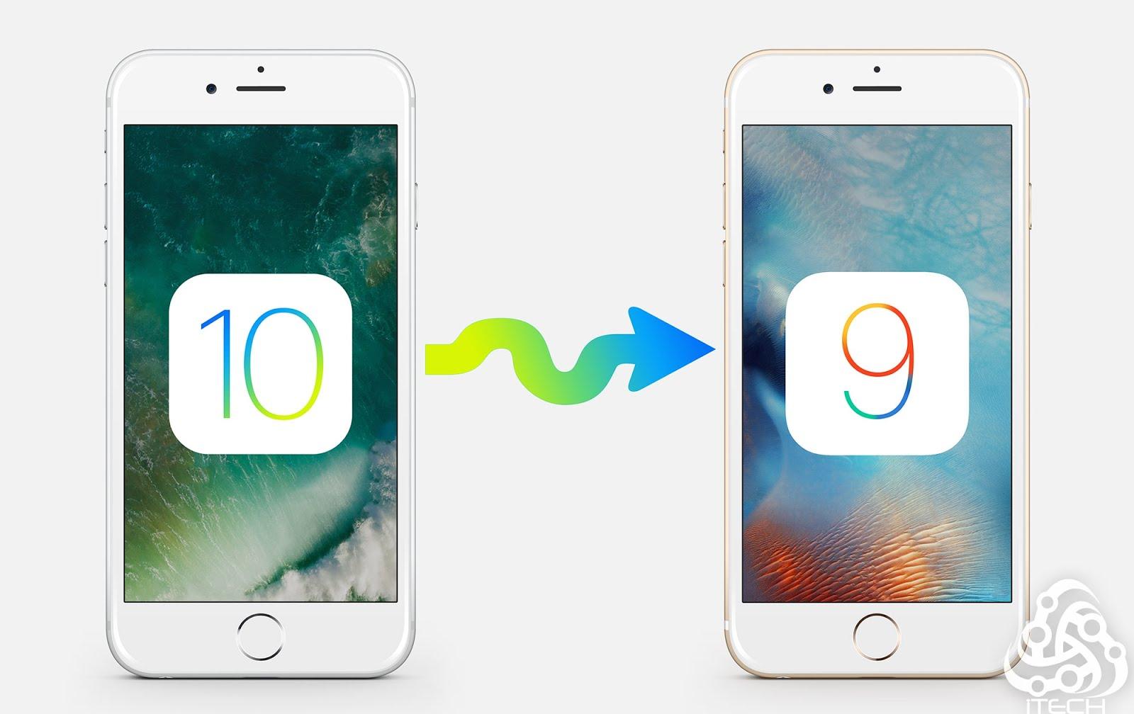 طريقة الرجوع من iOS 10 الى iOS 9