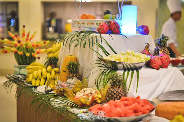 A very wonderful fruit section in Mutiara Restaurant