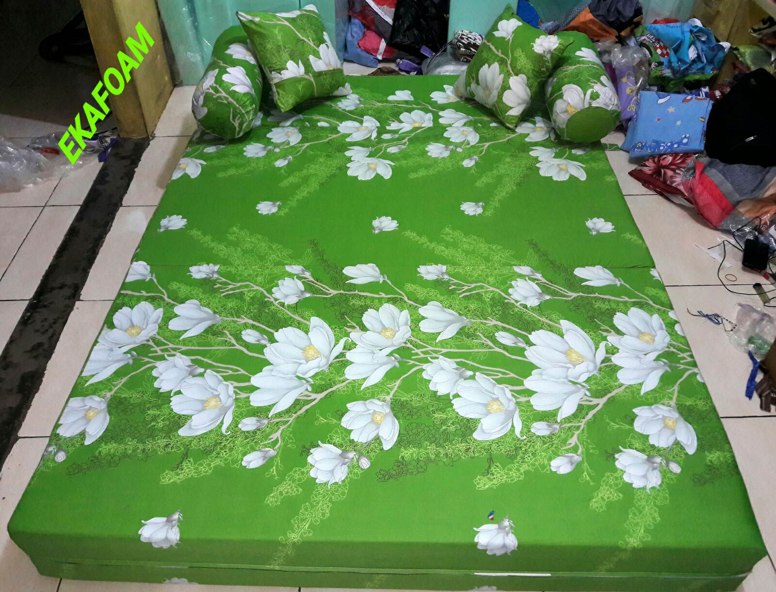 Sofa Bed Inoac 3 In 1 Cushions On Brown Leather 2017 Full Motif Agen Resmi Kasur Busa