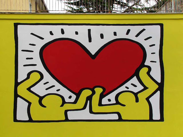 Keith Haring mural, Istituto Colombo, Livorno